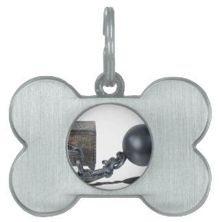 SafeBoundByBallAndChain061315 Pet Name Tag