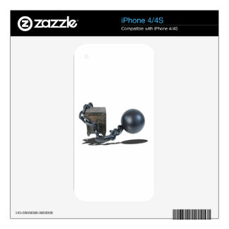 SafeBoundByBallAndChain061315 Skin For The iPhone 4S