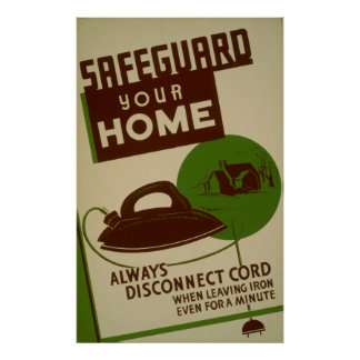 Safeguard Your Home WPA Vintage Poster