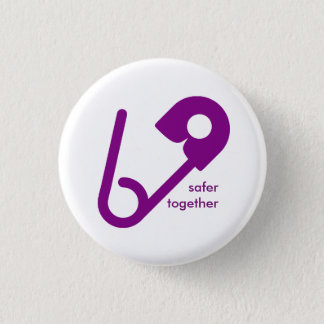 Safer Together Safety Pin Buttons
