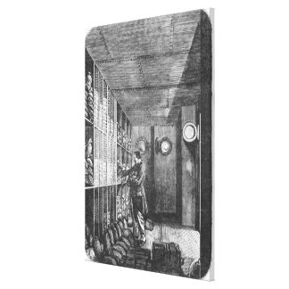 Safes at the Bank of France in Paris, 1897 Canvas Print