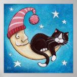 Safest Place For A Cat Nap (no border) Art Print