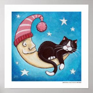 Safest Place for a Cat Nap Poster