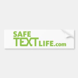 safetext bumper sticker