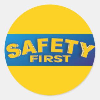 Safety 1st classic round sticker