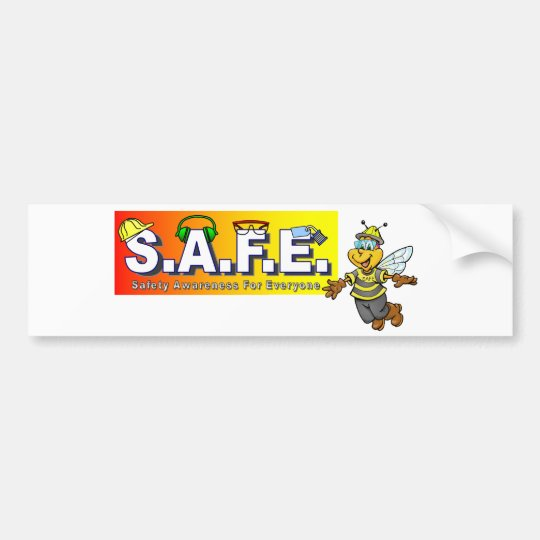 Safety Awareness Items Bumper Sticker