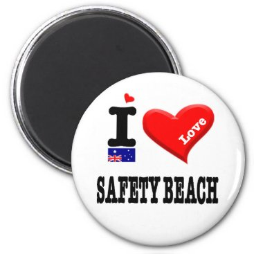 SAFETY BEACH - I Love Magnet