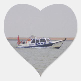 Safety Boat Heart Sticker