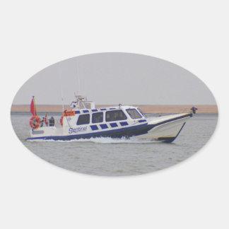 Safety Boat Oval Sticker