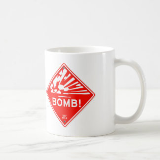 Safety Bomb Warning Red Sign Bombing Caution Coffee Mug