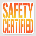Safety Certified Square Stickers