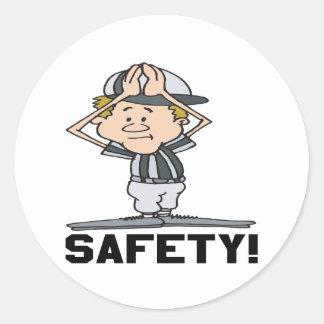 Safety Classic Round Sticker