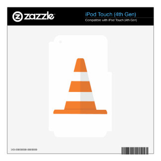 Safety Cone Decals For iPod Touch 4G