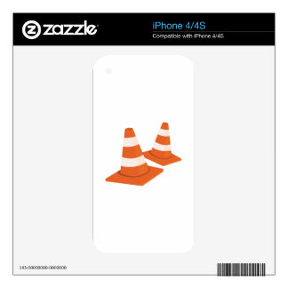 Safety Cones Decal For The iPhone 4