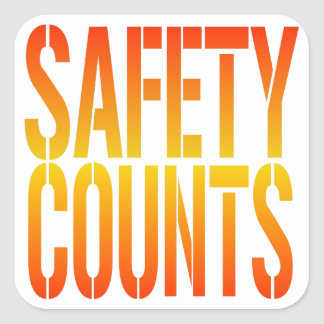 Safety Counts Square Sticker