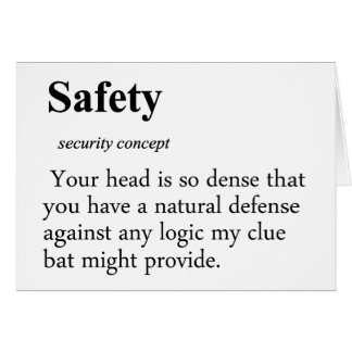 Safety Definition Card
