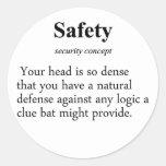 Safety Definition Classic Round Sticker