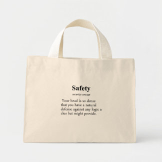 Safety Definition Mini Tote Bag