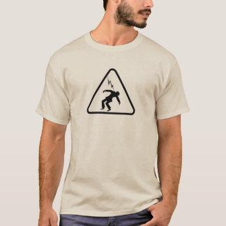 Safety Electrical Hazard Warning Sign - Lightning T-Shirt