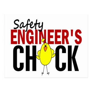 Safety Engineer's Chick Postcard