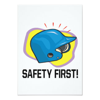 Safety First 5x7 Paper Invitation Card