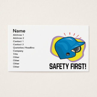 Safety First Business Card