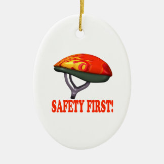 Safety First Ceramic Ornament