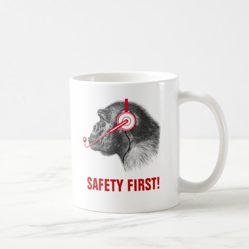 Safety First! Classic White Coffee Mug