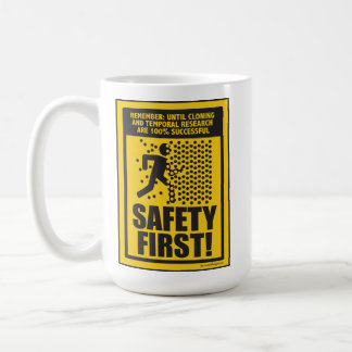 SAFETY FIRST! (Cloning & Temporal Research) Mug