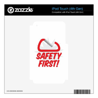 Safety First Decals For iPod Touch 4G