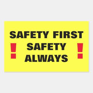 Safety First Safety Always! Rectangular Sticker