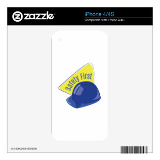 Safety First Decals For iPhone 4