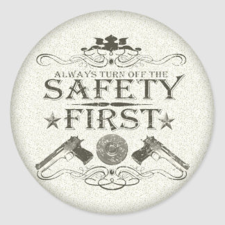 Safety First Stickers