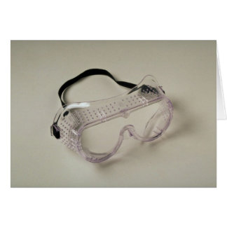 Safety glasses to protect the eyes card