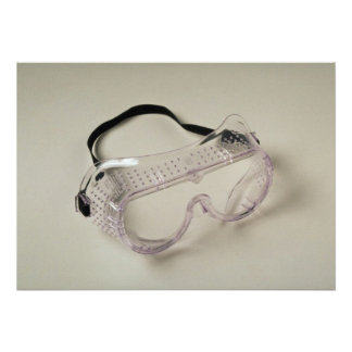 Safety glasses to protect the eyes personalized announcements