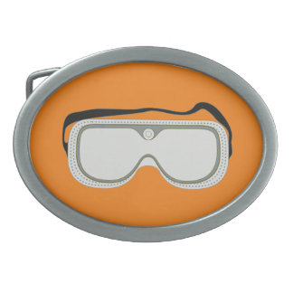 Safety Goggles Oval Belt Buckle