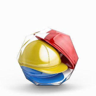 Safety helmets acrylic award
