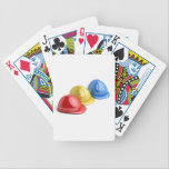 "Safety helmets bicycle playing cards<br><div class=""desc"">Safety helmets with different colors</div>"