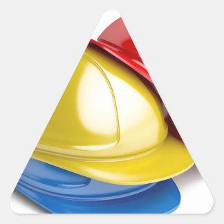 Safety helmets triangle sticker