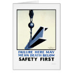 Safety In Construction 1937 WPA Card