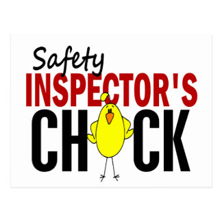 Safety Inspector s Chick Post Cards