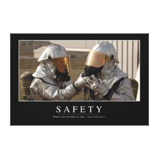 Safety: Inspirational Quote Canvas Print