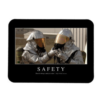 Safety: Inspirational Quote Magnet