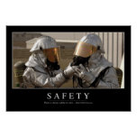 Safety: Inspirational Quote Poster