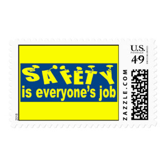 SAFETY is Everyone's Job Postage Stamps