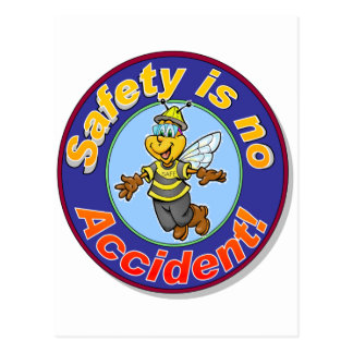 Safety is no accident. postcard