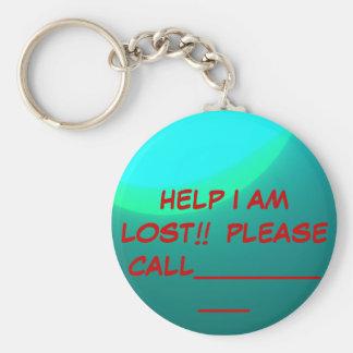 Safety>Key Ring Basic Round Button Keychain