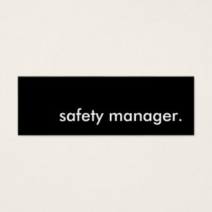 Safety business cards templates zazzle safety manager mini business card colourmoves Image collections