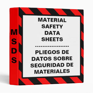 Safety Material Data Sheet Binder