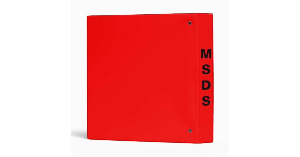 safety material data sheet binder zazzle. Black Bedroom Furniture Sets. Home Design Ideas